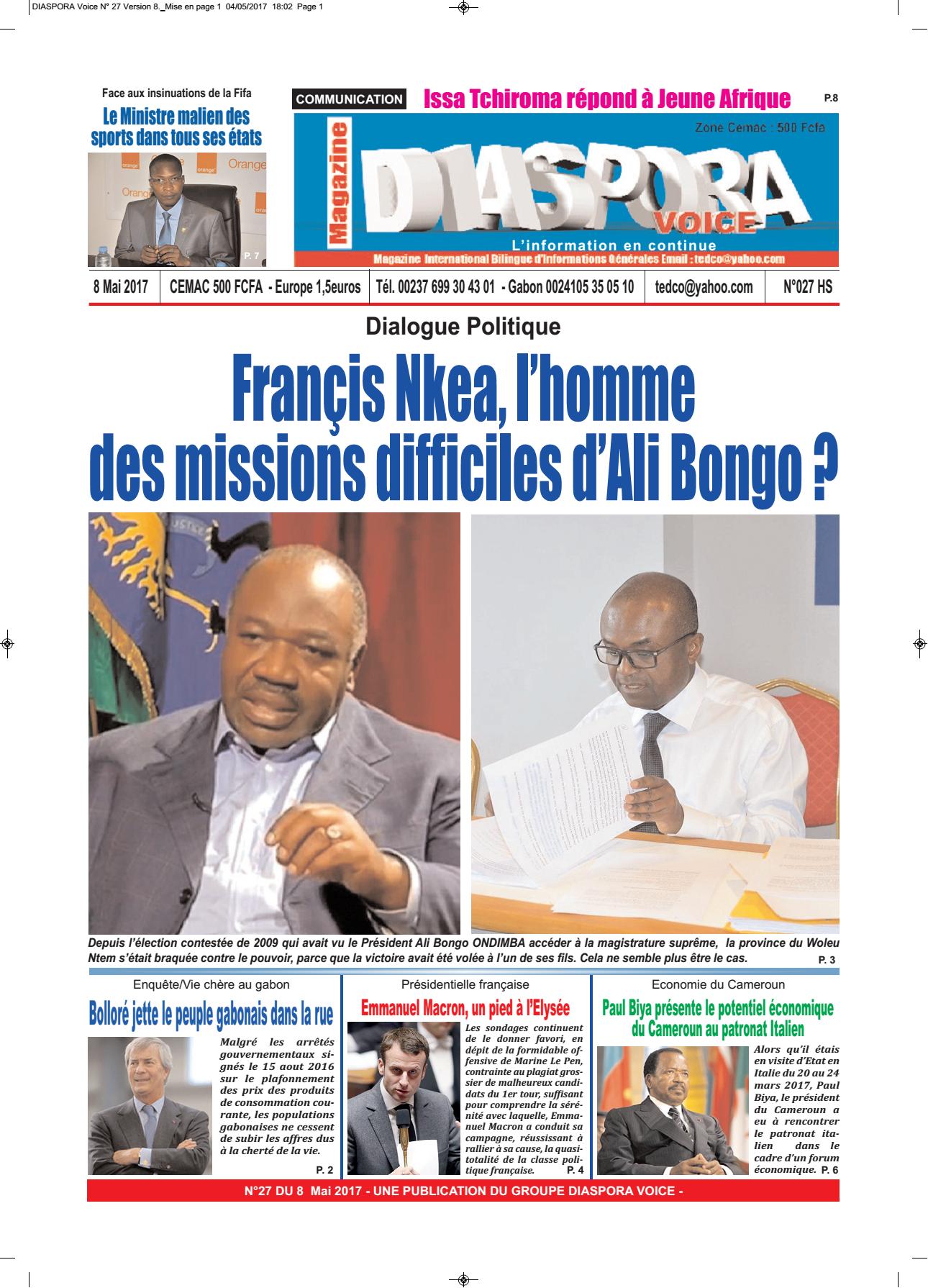 Diaspora Voice-08/05/2017