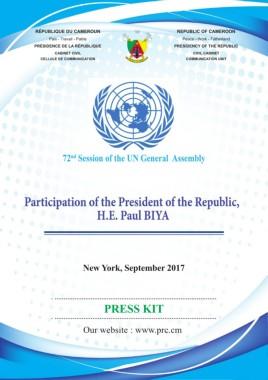 Présidence, République du Cameroun -09/10/2017