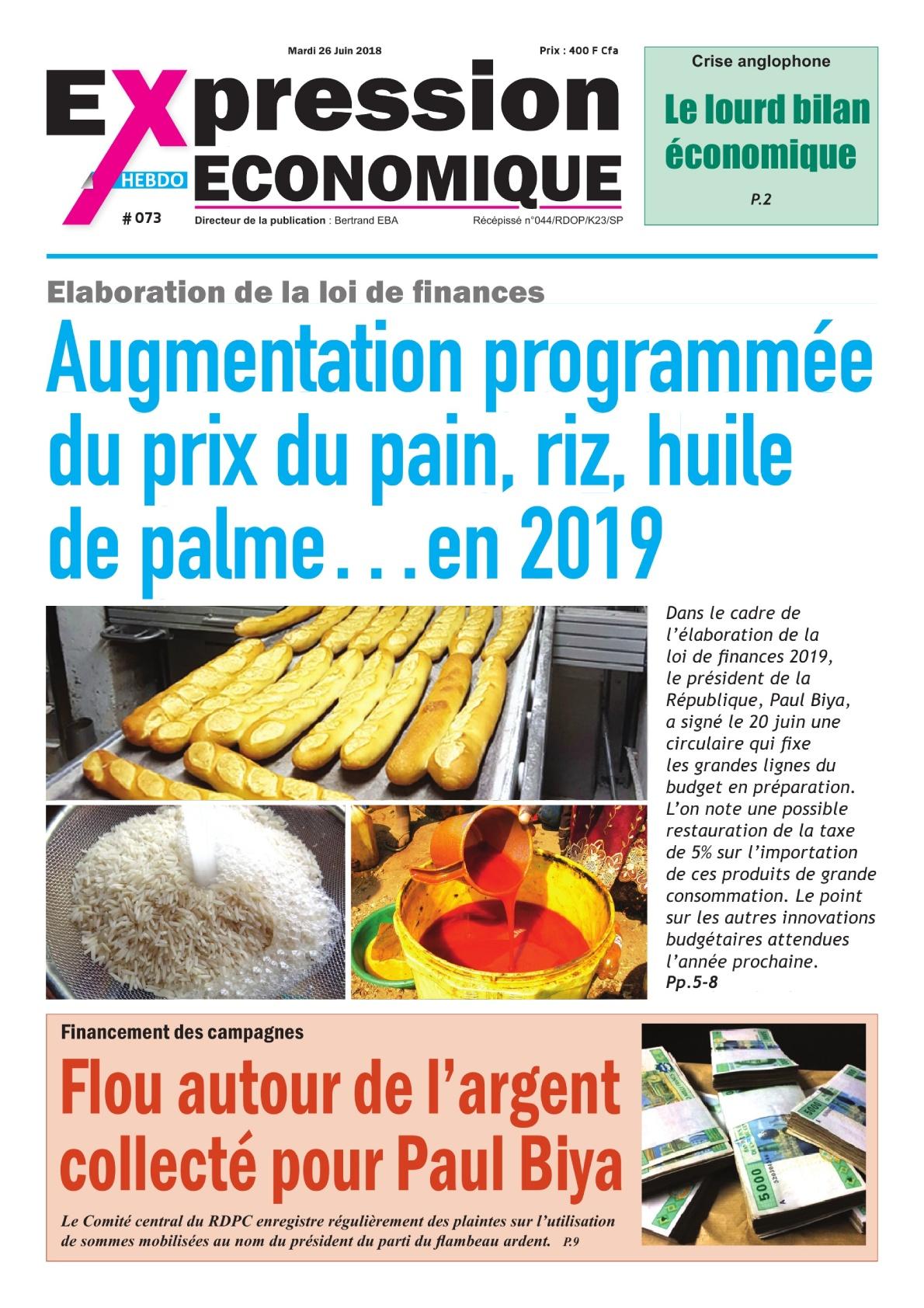 Expression Economique - du26au 02 juil. 2018