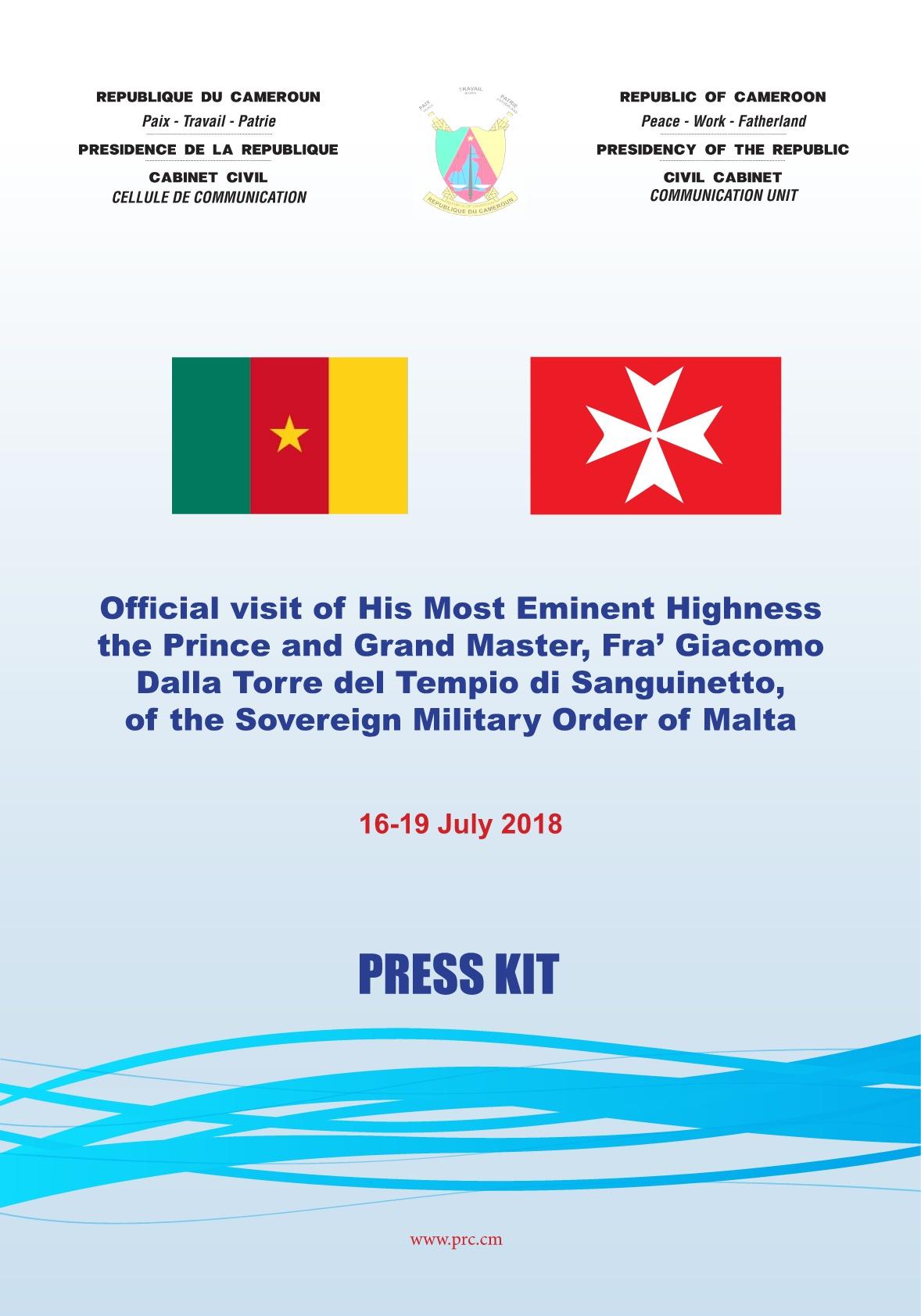 Présidence de la République du Cameroun <br/> 2018/07/16