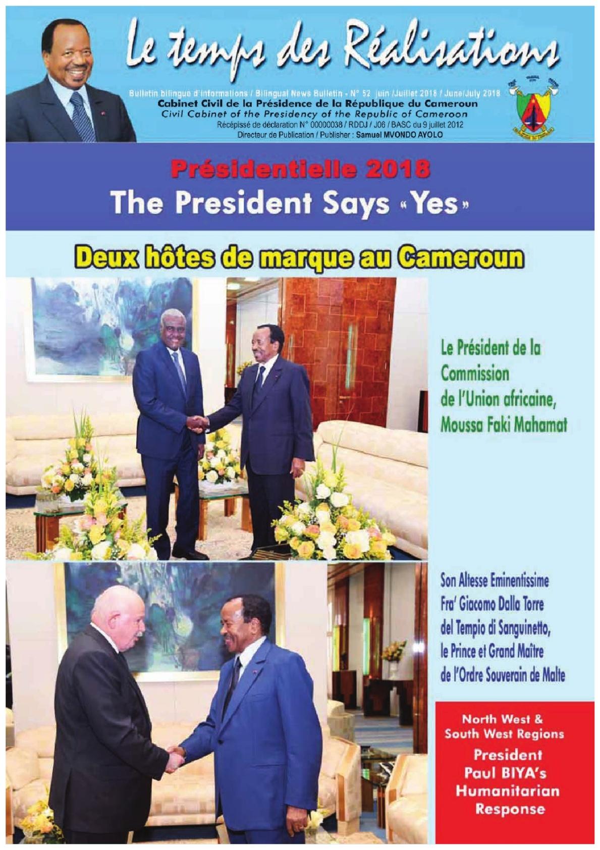 Présidence de la République du Cameroun - 14/12/2018