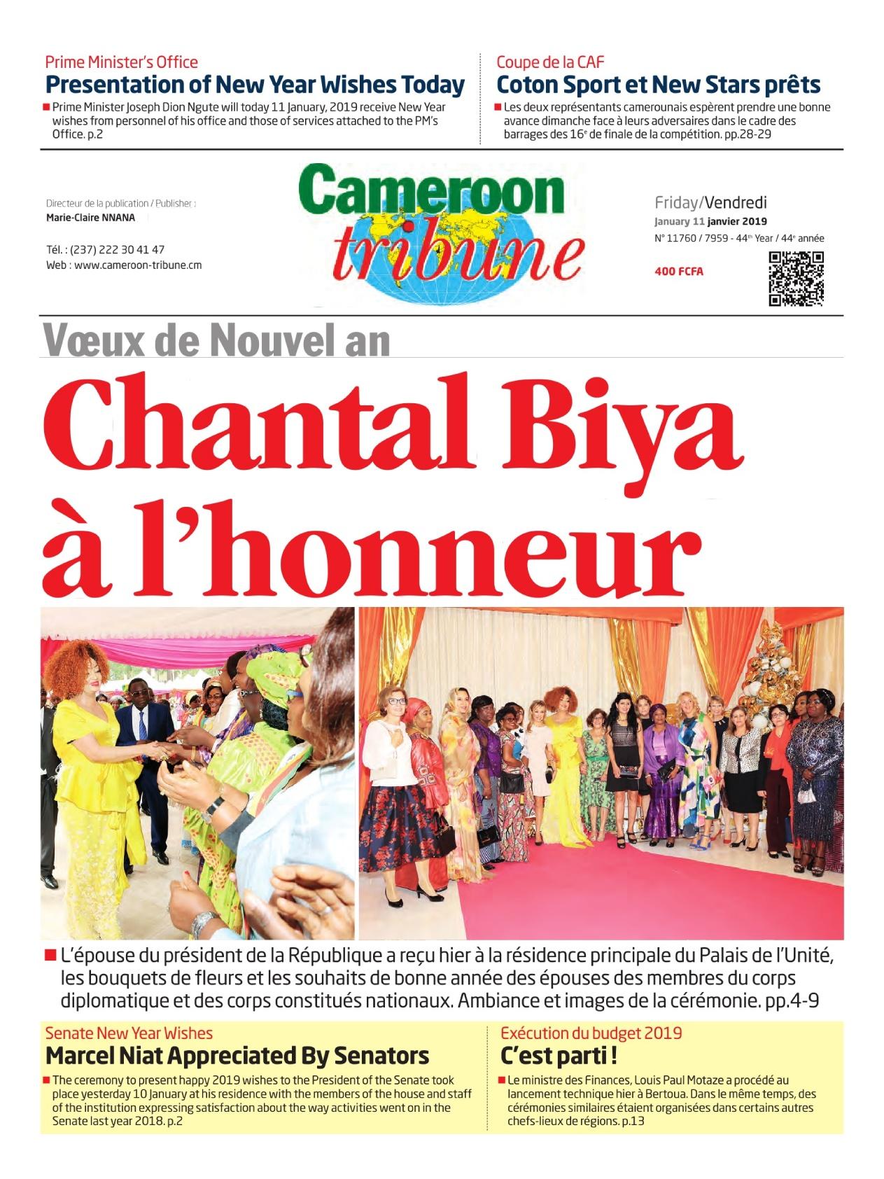 Cameroon Tribune <br/> 11/01/2019