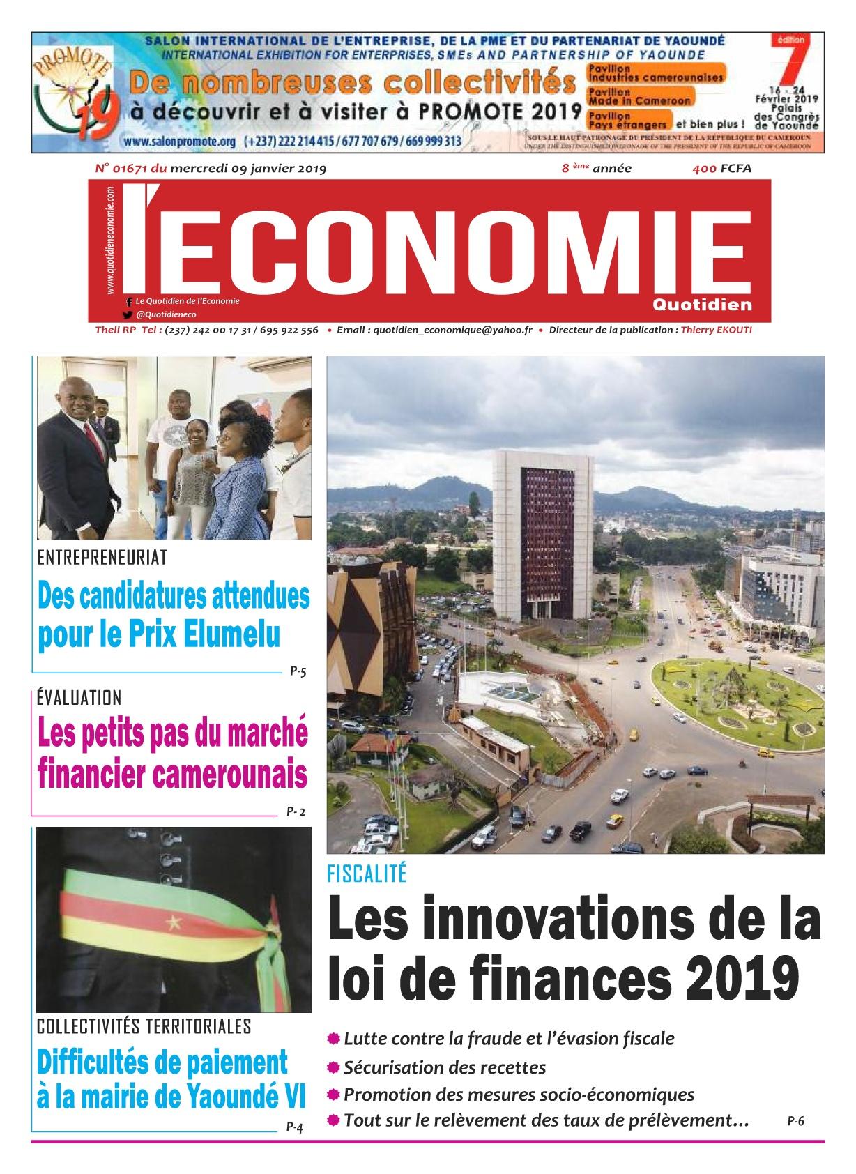 Le Quotidien de l&#039;Economie <br/> 09/01/2019