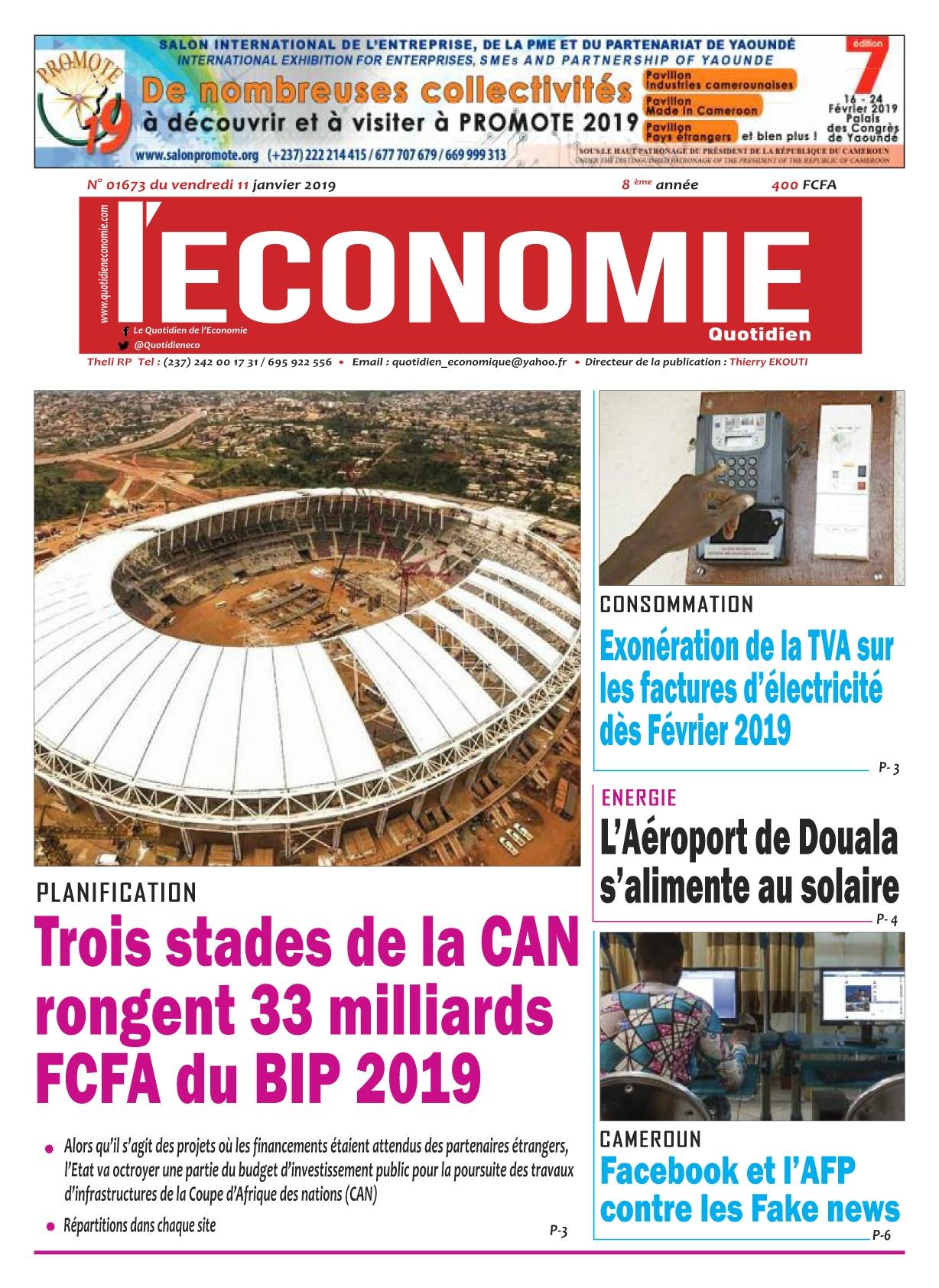 Le Quotidien de l&#039;Economie <br/> 11/01/2019