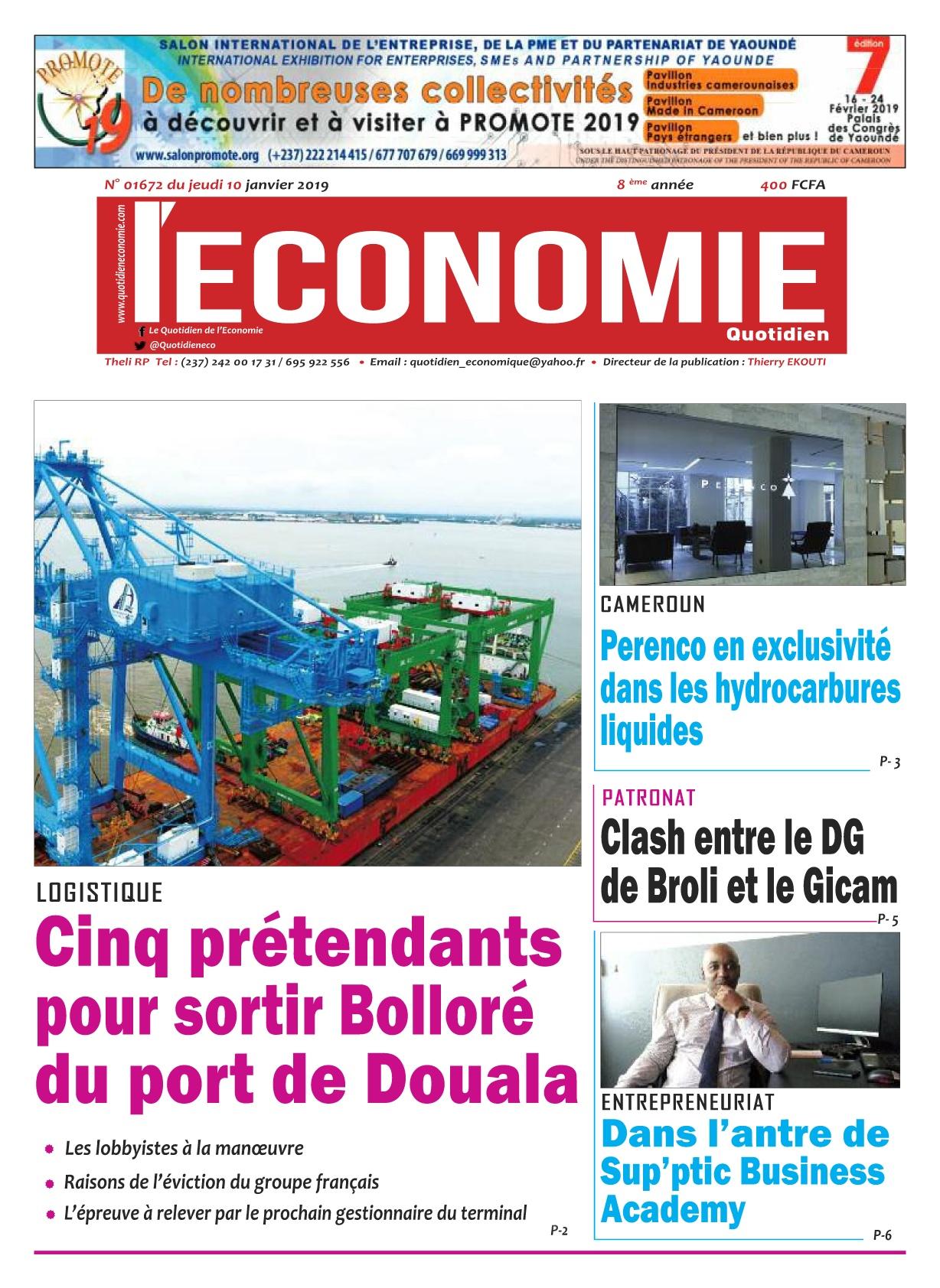 Le Quotidien de l&#039;Economie <br/> 10/01/2019