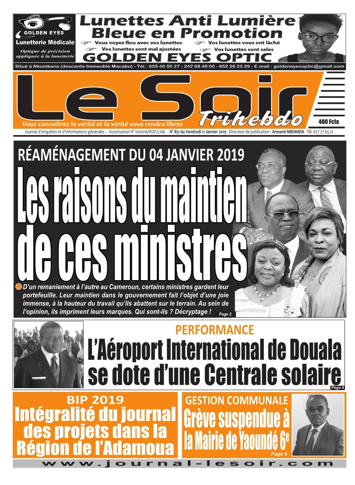 Le Soir <br/> 11/01/2019