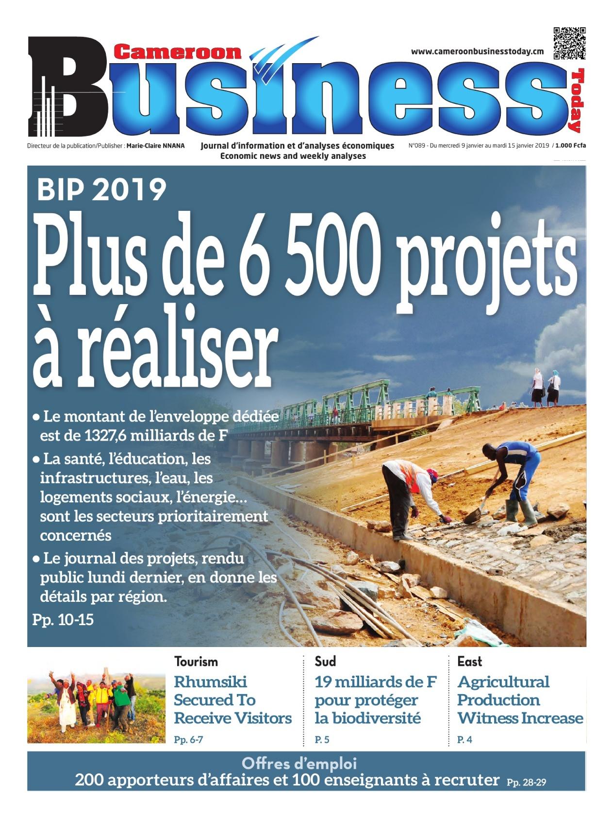 Cameroon Tribune <br/> 09/01/2019