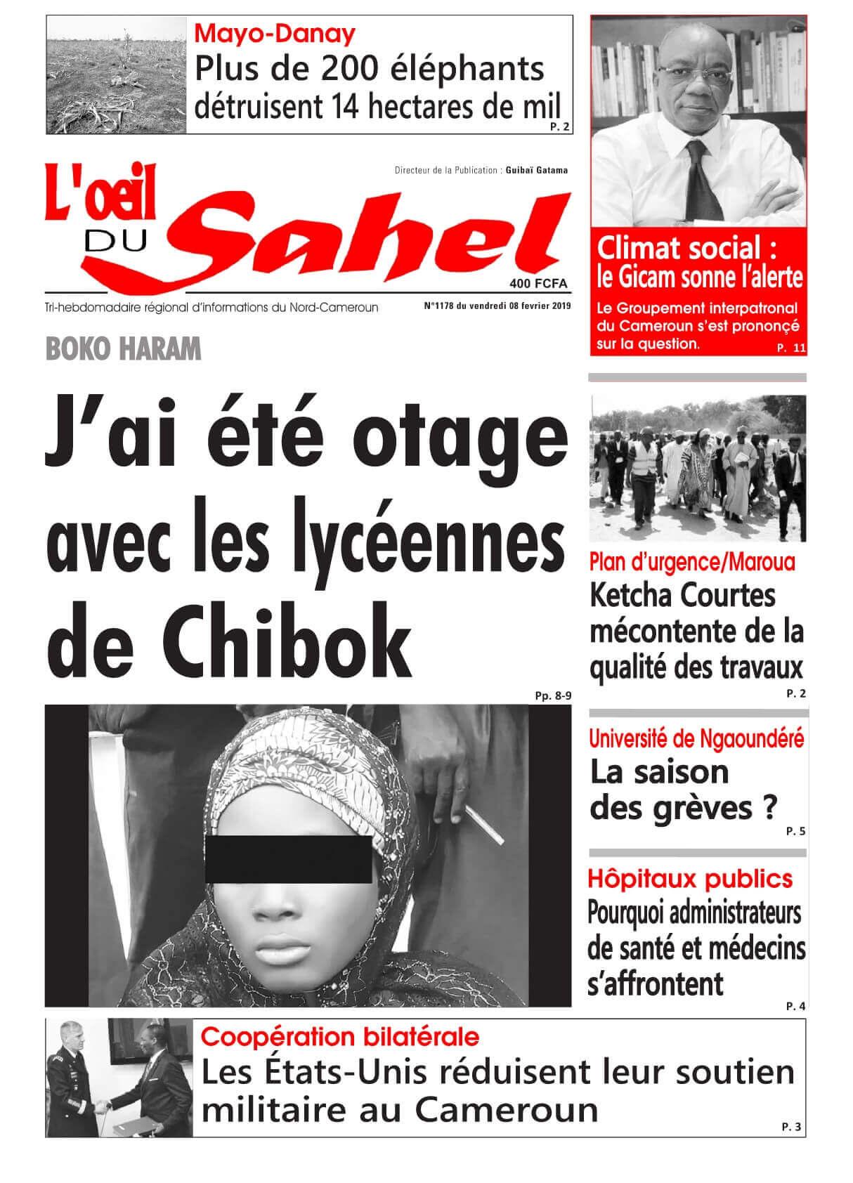 L'oeil du Sahel <br/> 08/02/2019
