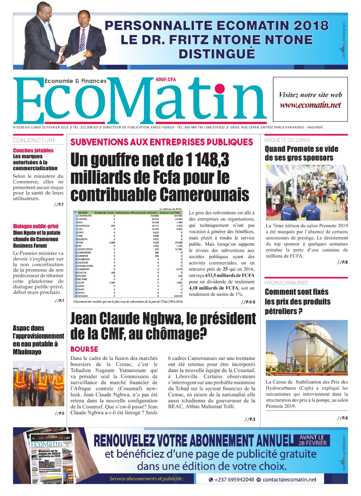 Ecomatin <br/> 25/02/2019