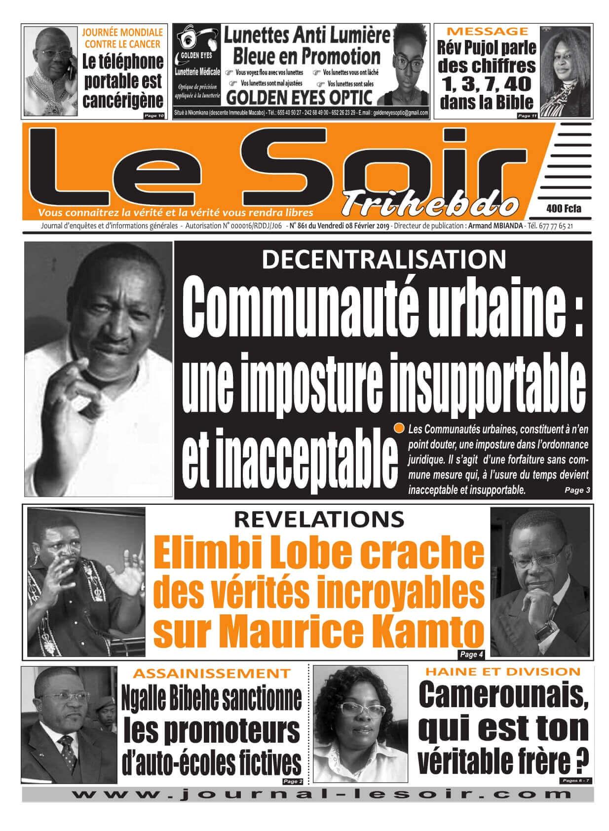 Le Soir <br/> 08/02/2019