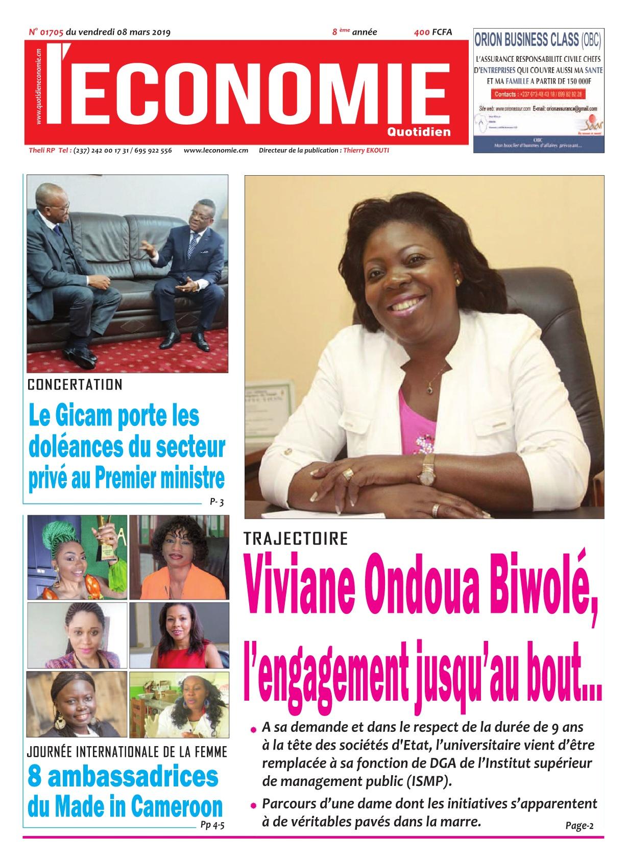 Le Quotidien de l'Economie <br/> 08/03/2019