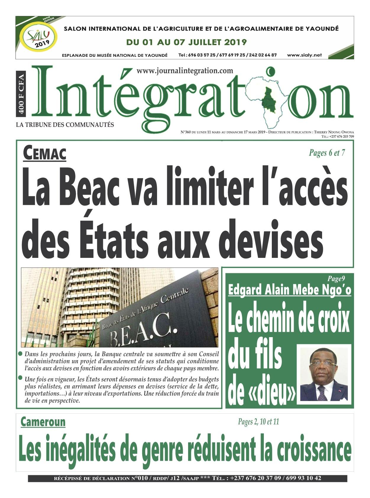 Intégration <br/> 11/03/2019