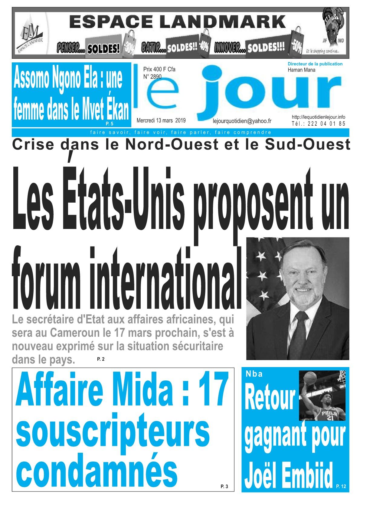 Le Jour <br/> 13/03/2019