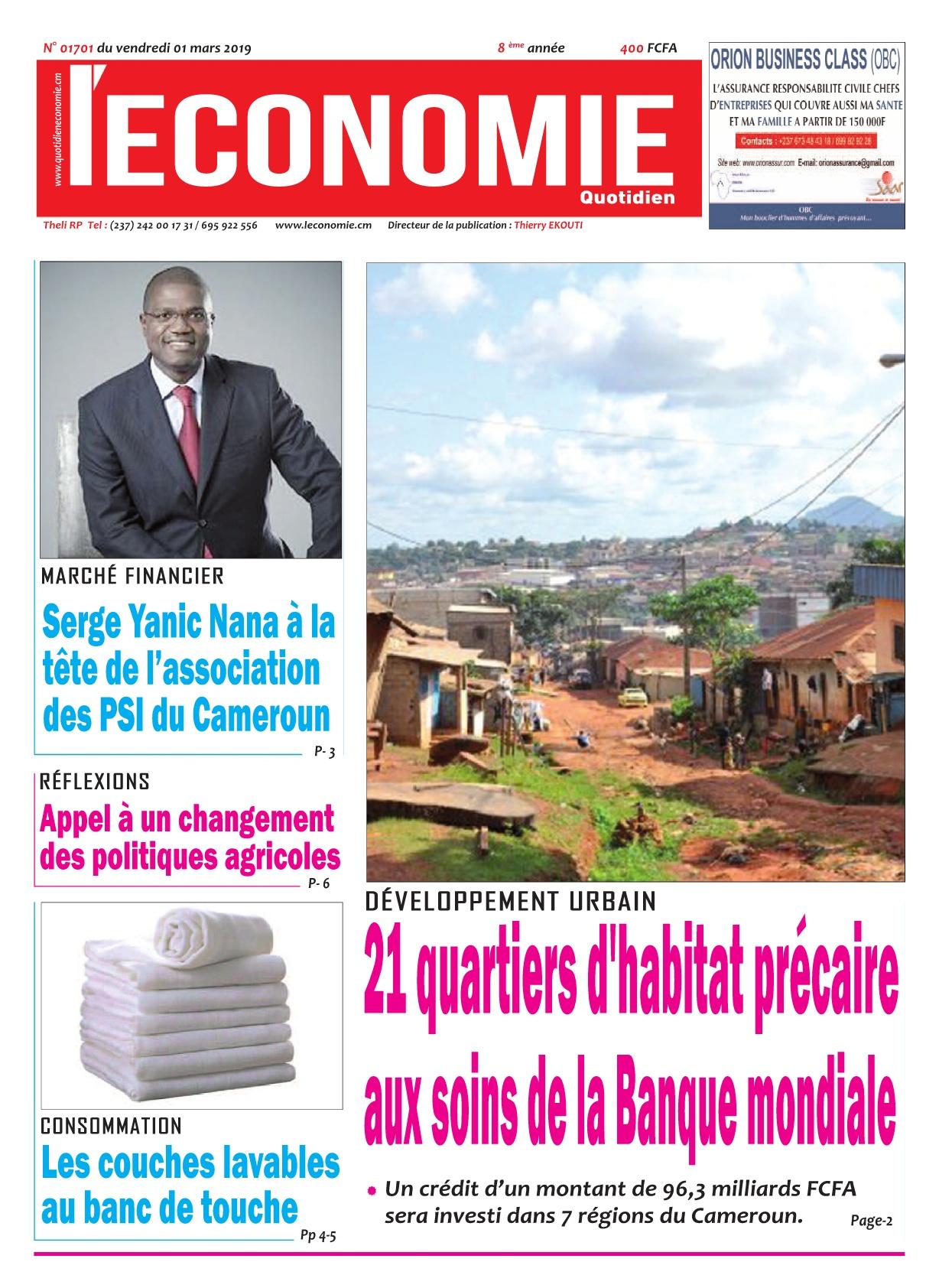 Le Quotidien de l'Economie <br/> 01/03/2019