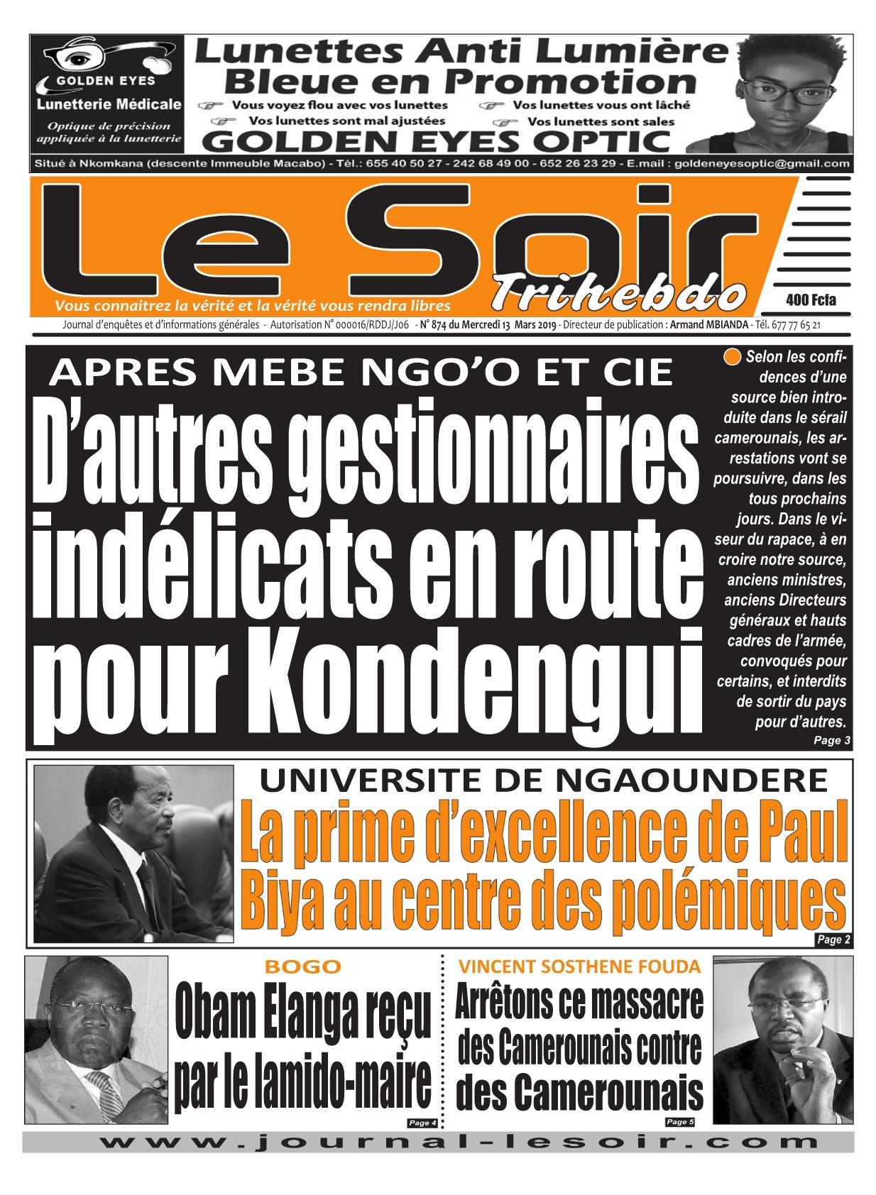 Le Soir <br/> 13/03/2019