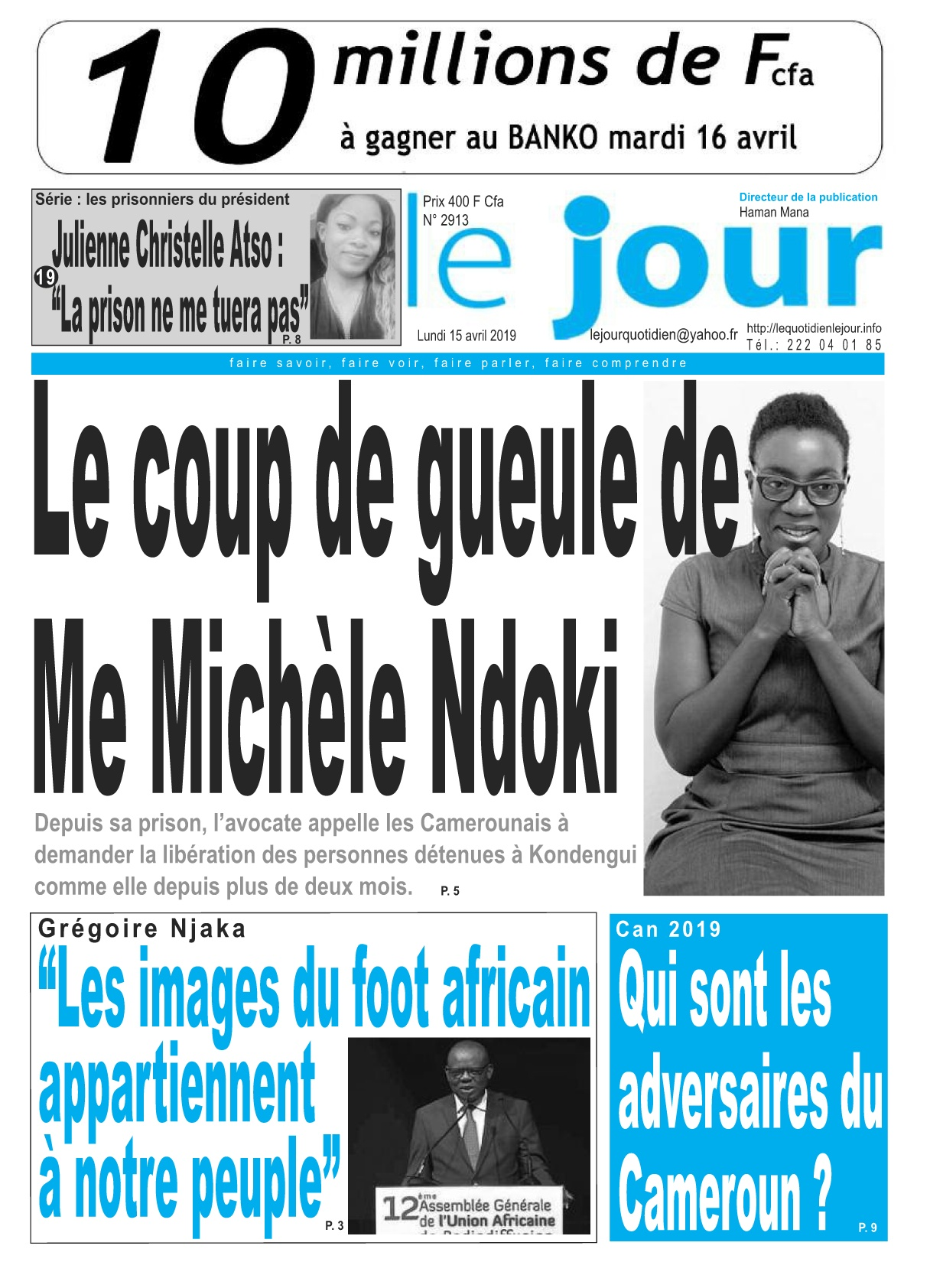 Le Jour <br/> 15/04/2019
