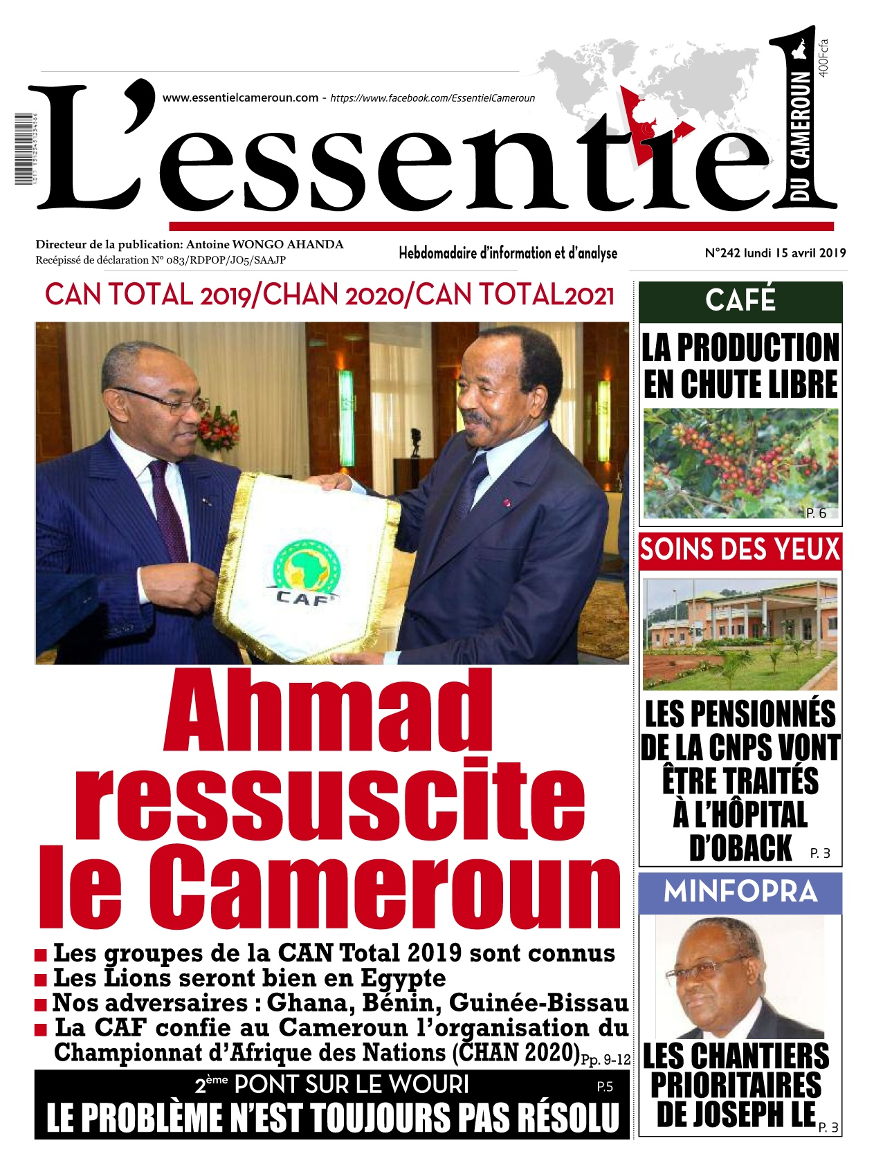 L&#039;essentiel du Cameroun <br/> 15/04/2019