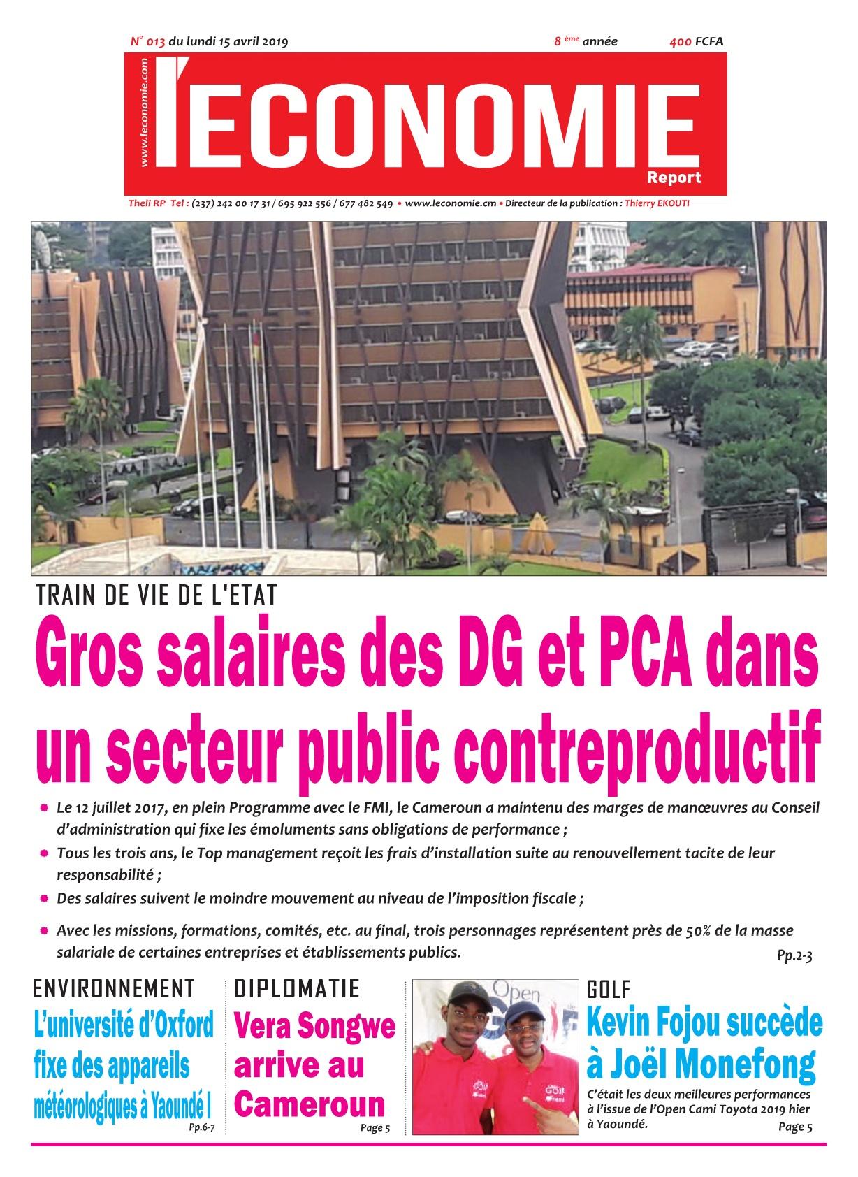 Le Quotidien de l&#039;Economie <br/> 15/04/2019