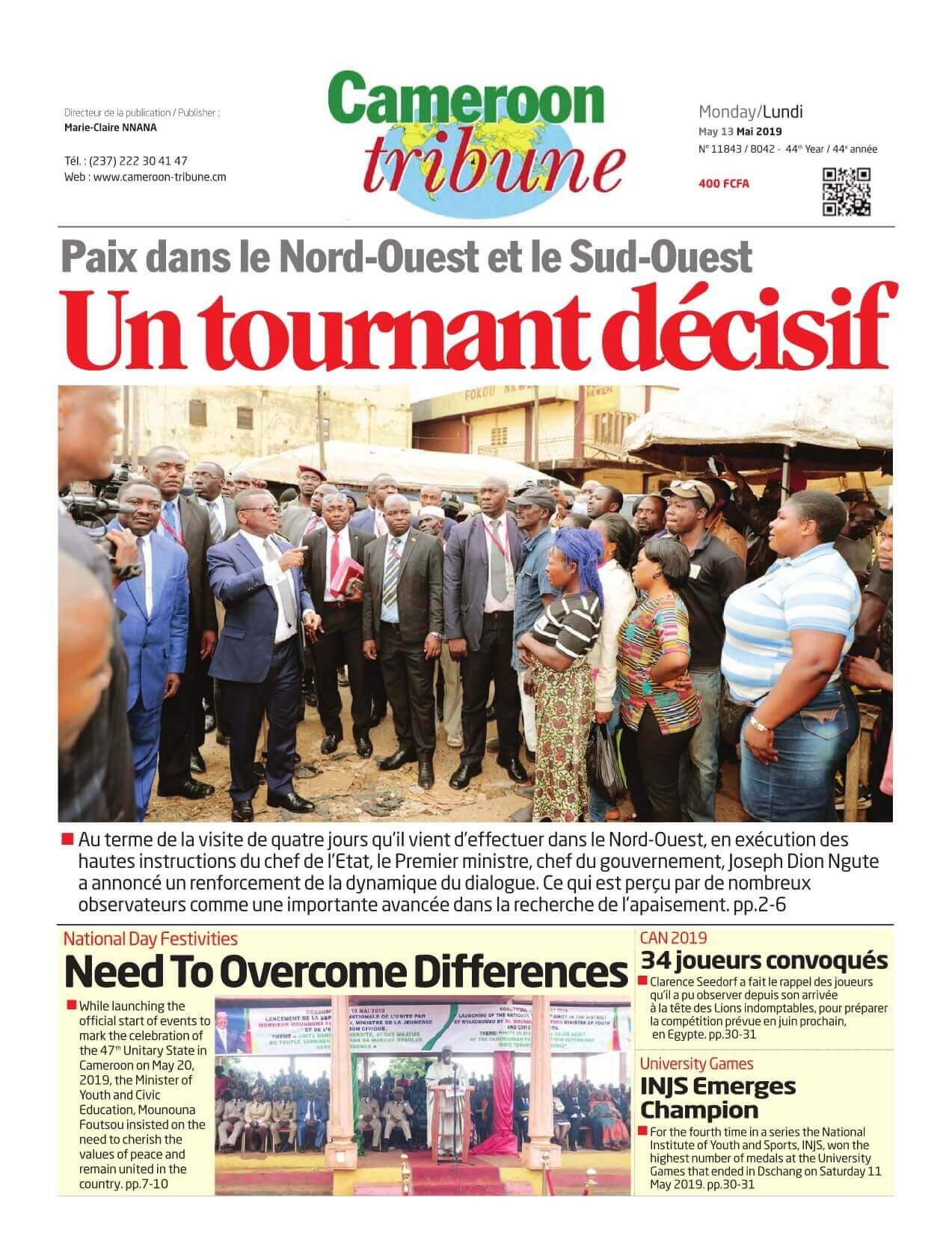 Cameroon Tribune - 13/05/2019