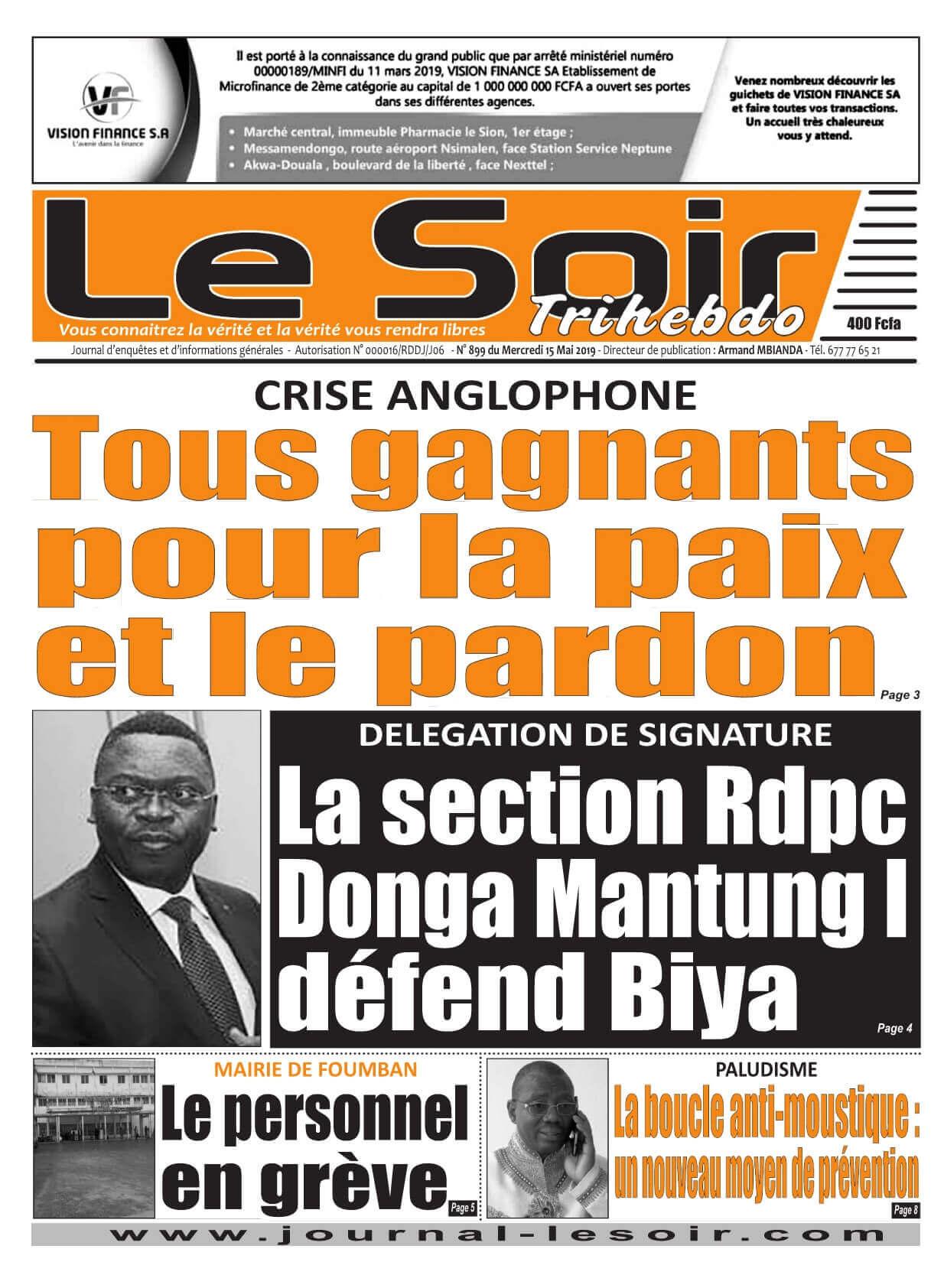 Le Soir <br/> 15/05/2019
