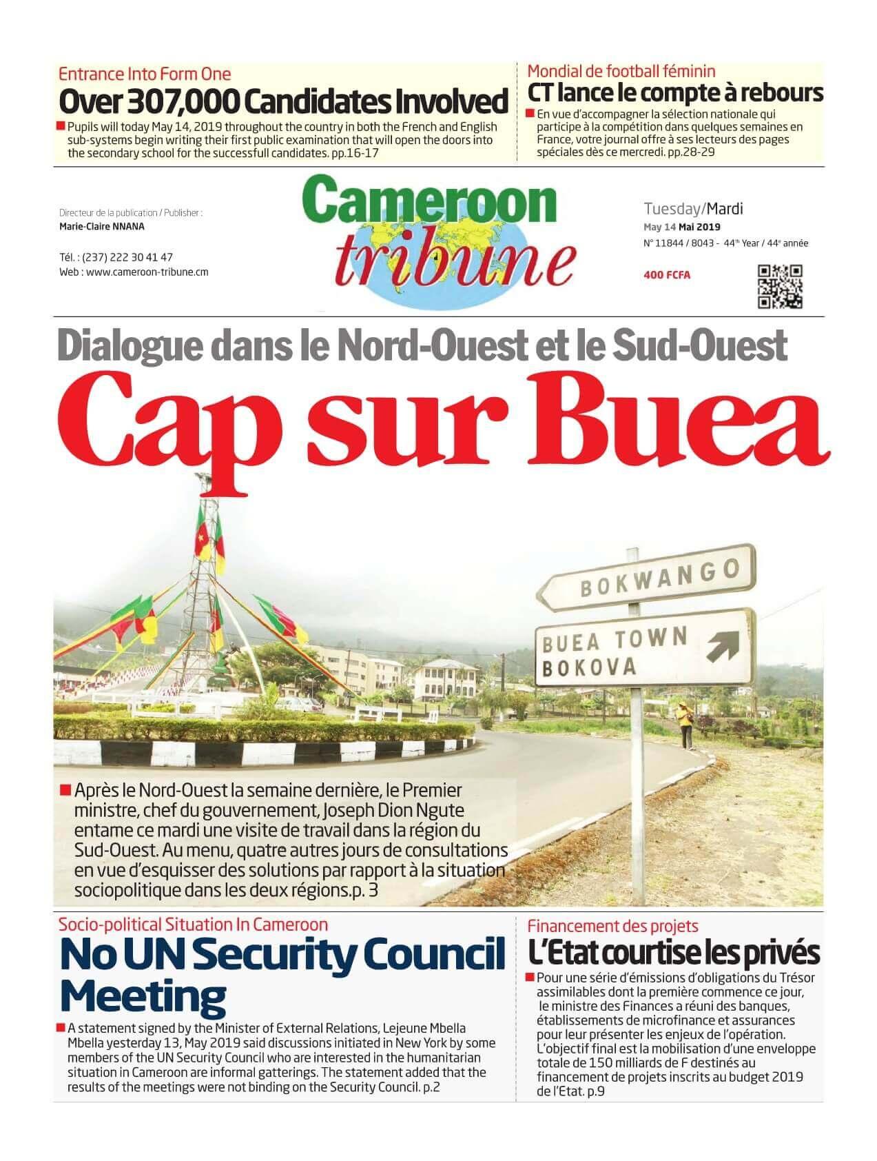 Cameroon Tribune <br/> 14/05/2019