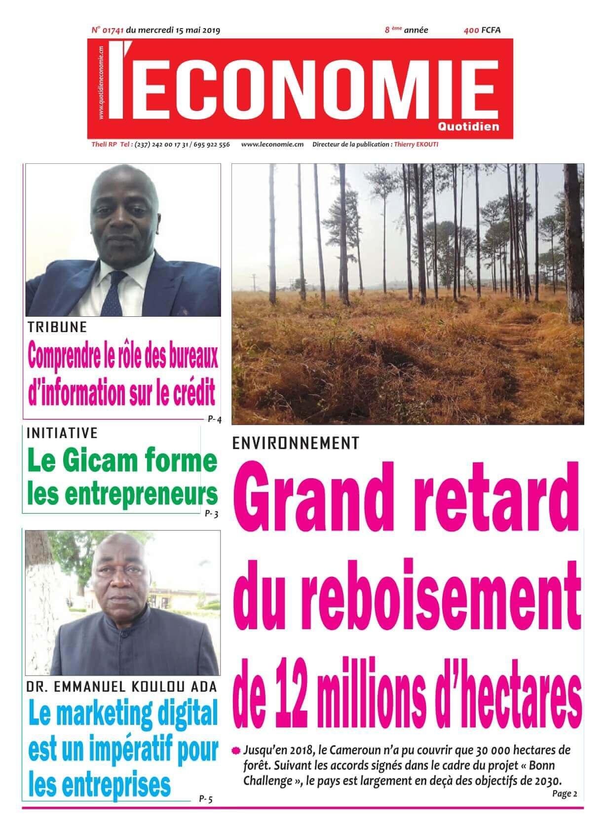Le Quotidien de l&#039;Economie <br/> 15/05/2019