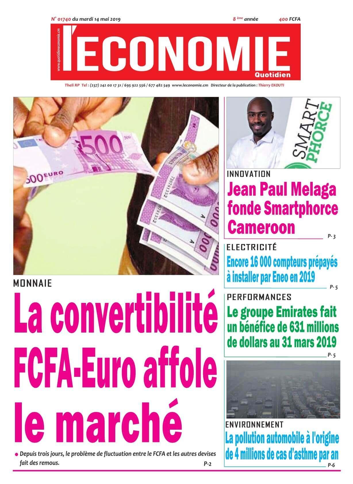 Le Quotidien de l&#039;Economie <br/> 14/05/2019