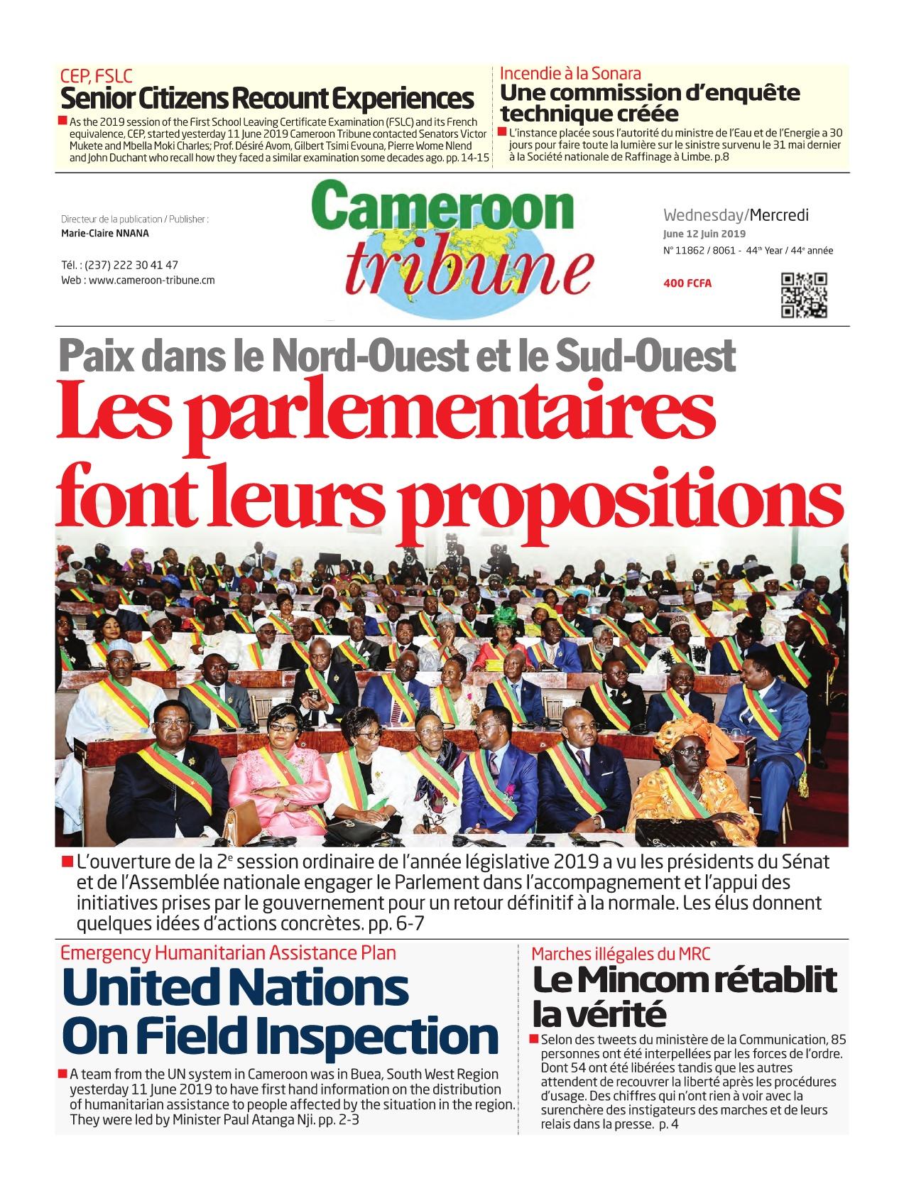 Cameroon Tribune - 12/06/2019