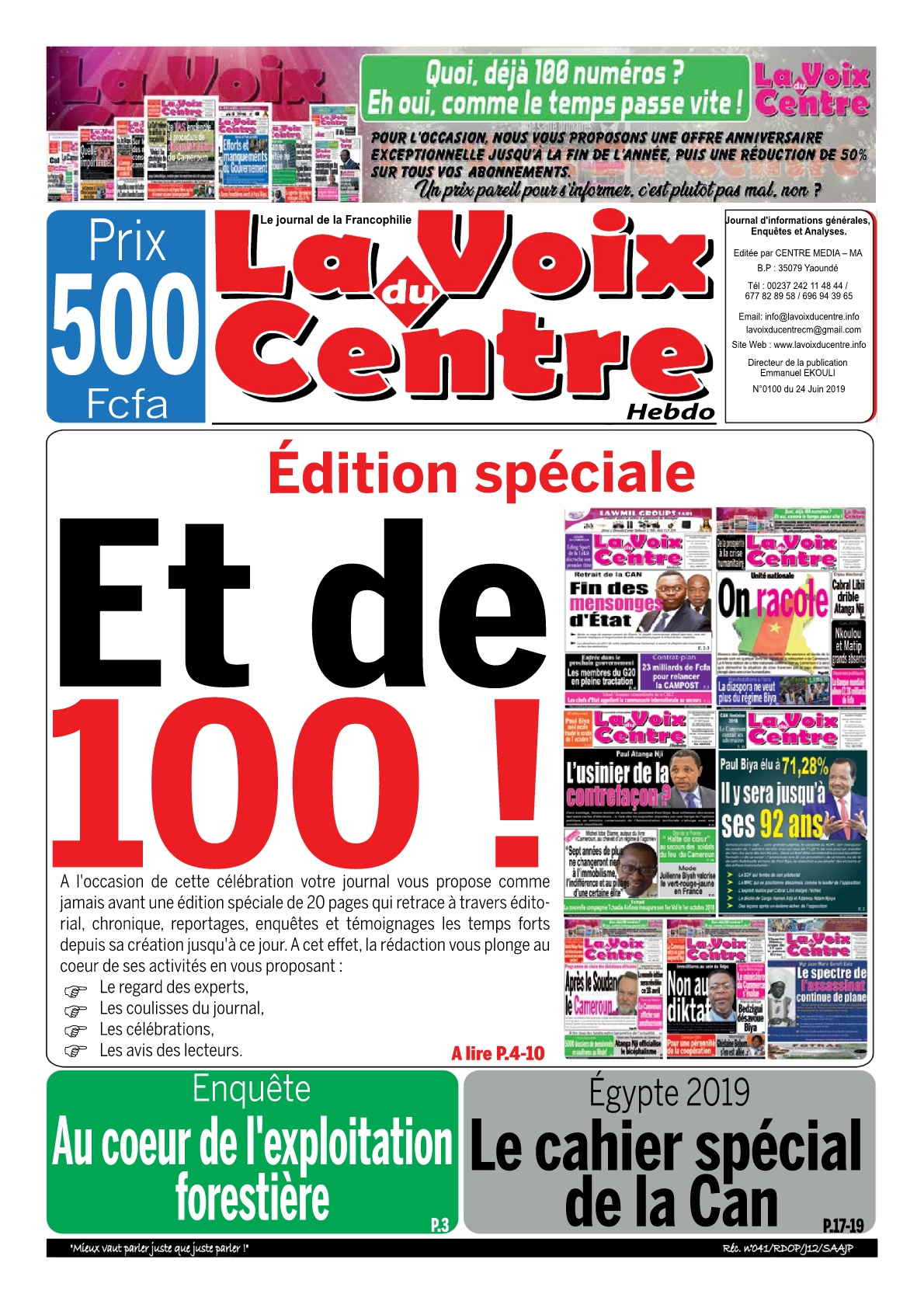 LA VOIX DU CENTRE - 24/06/2019