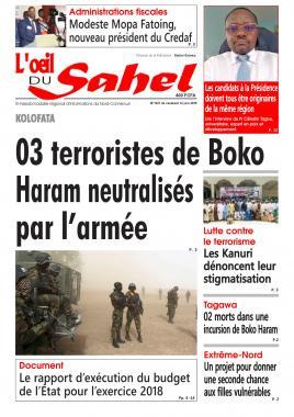 L'oeil du Sahel - 14/06/2019