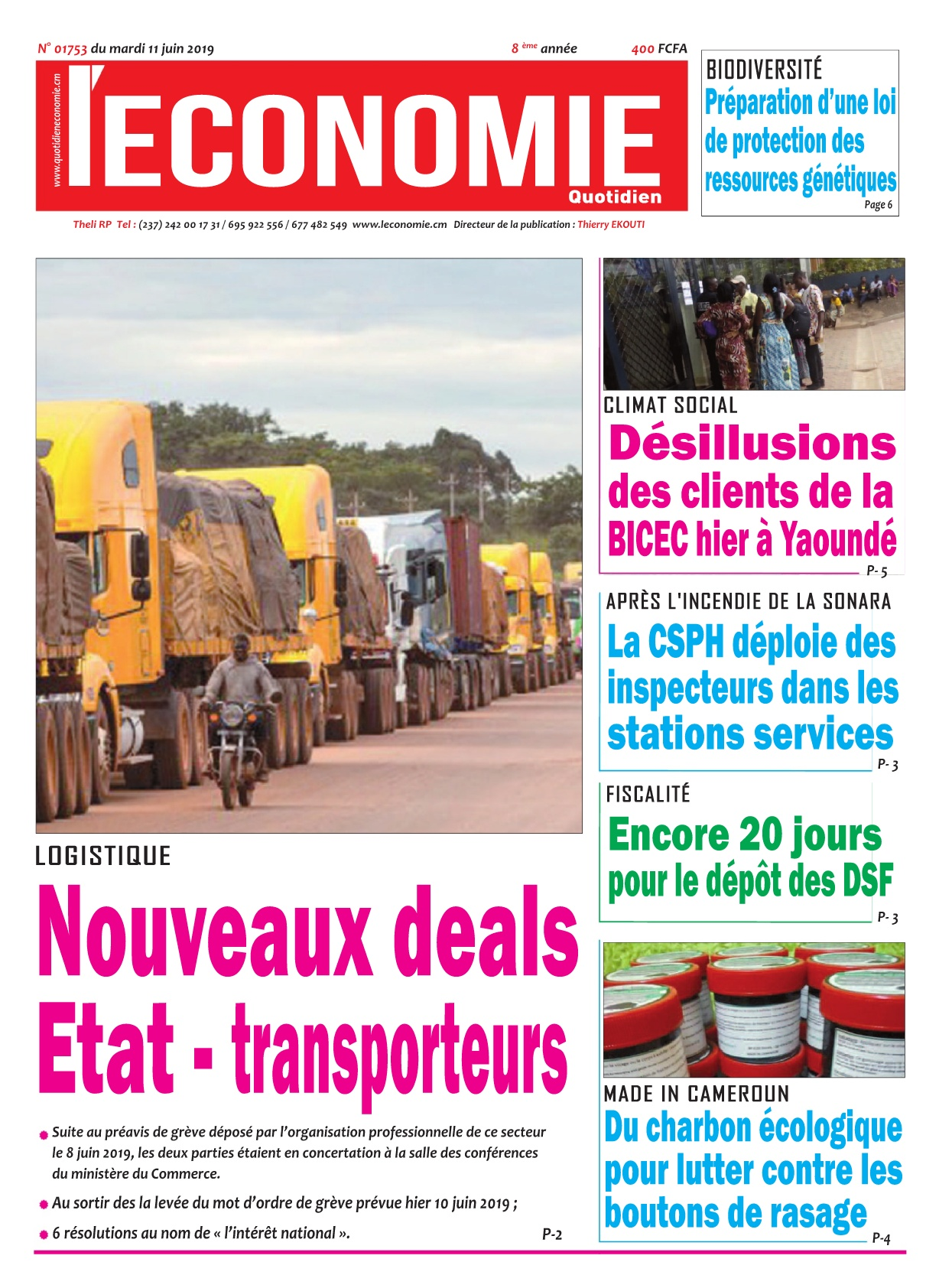 Le Quotidien de l'Economie - 11/06/2019