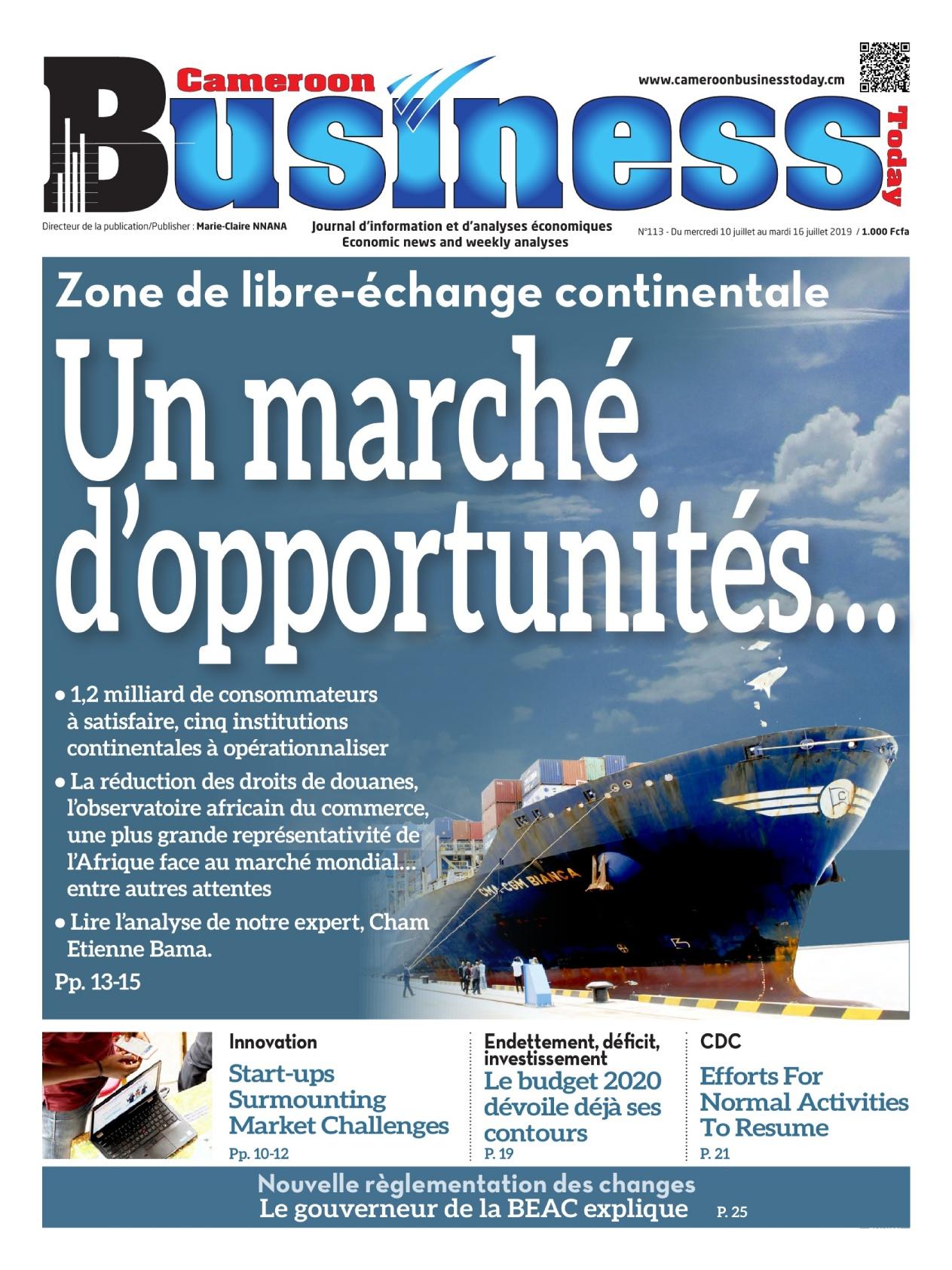 Cameroun business - 10/07/2019
