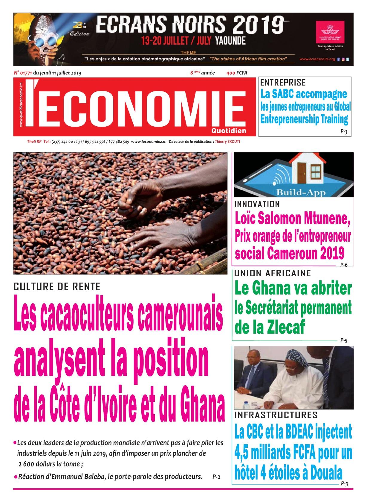 Le Quotidien de l'Economie - 11/07/2019