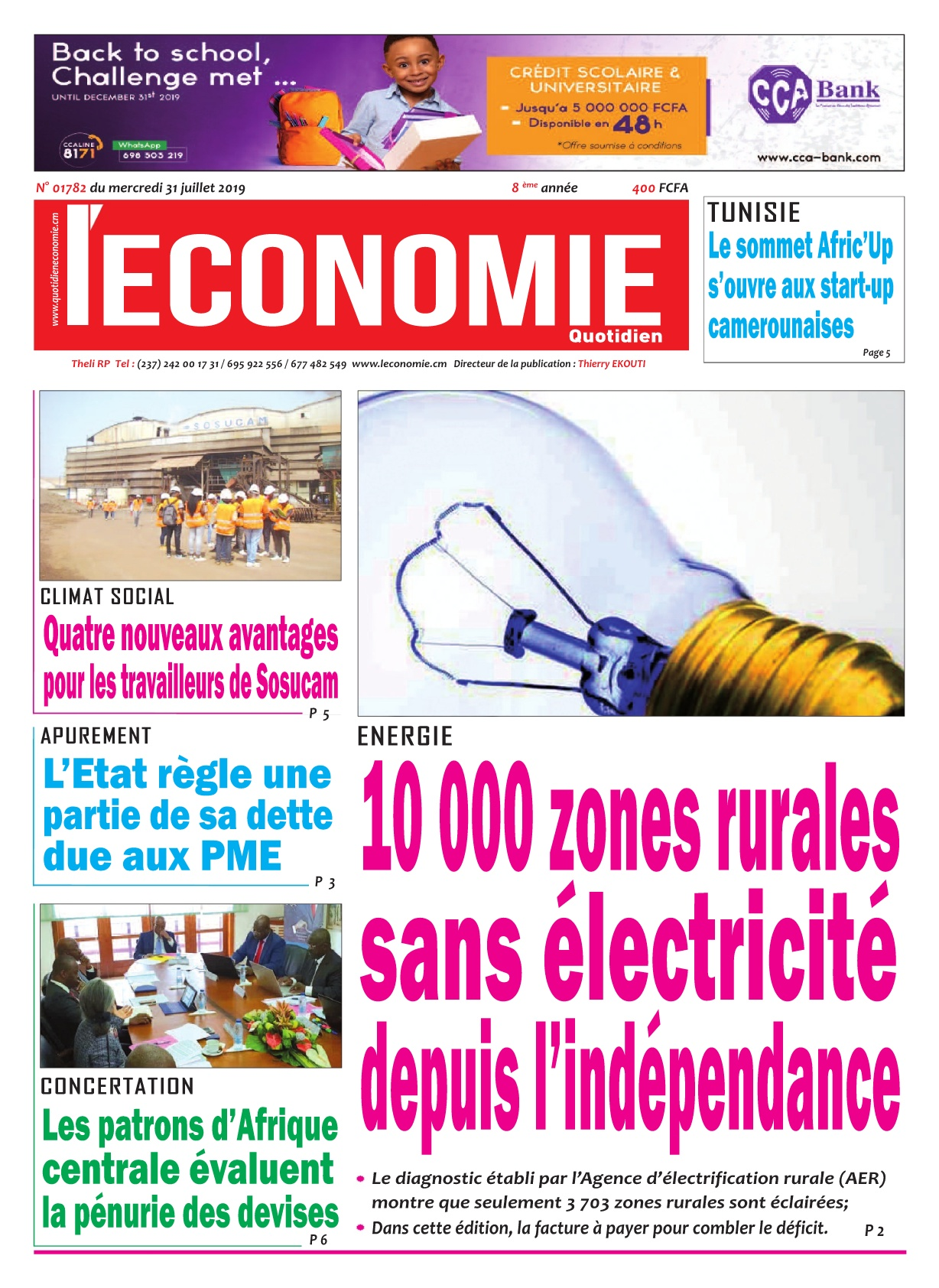 Le Quotidien de l'Economie - 31/07/2019