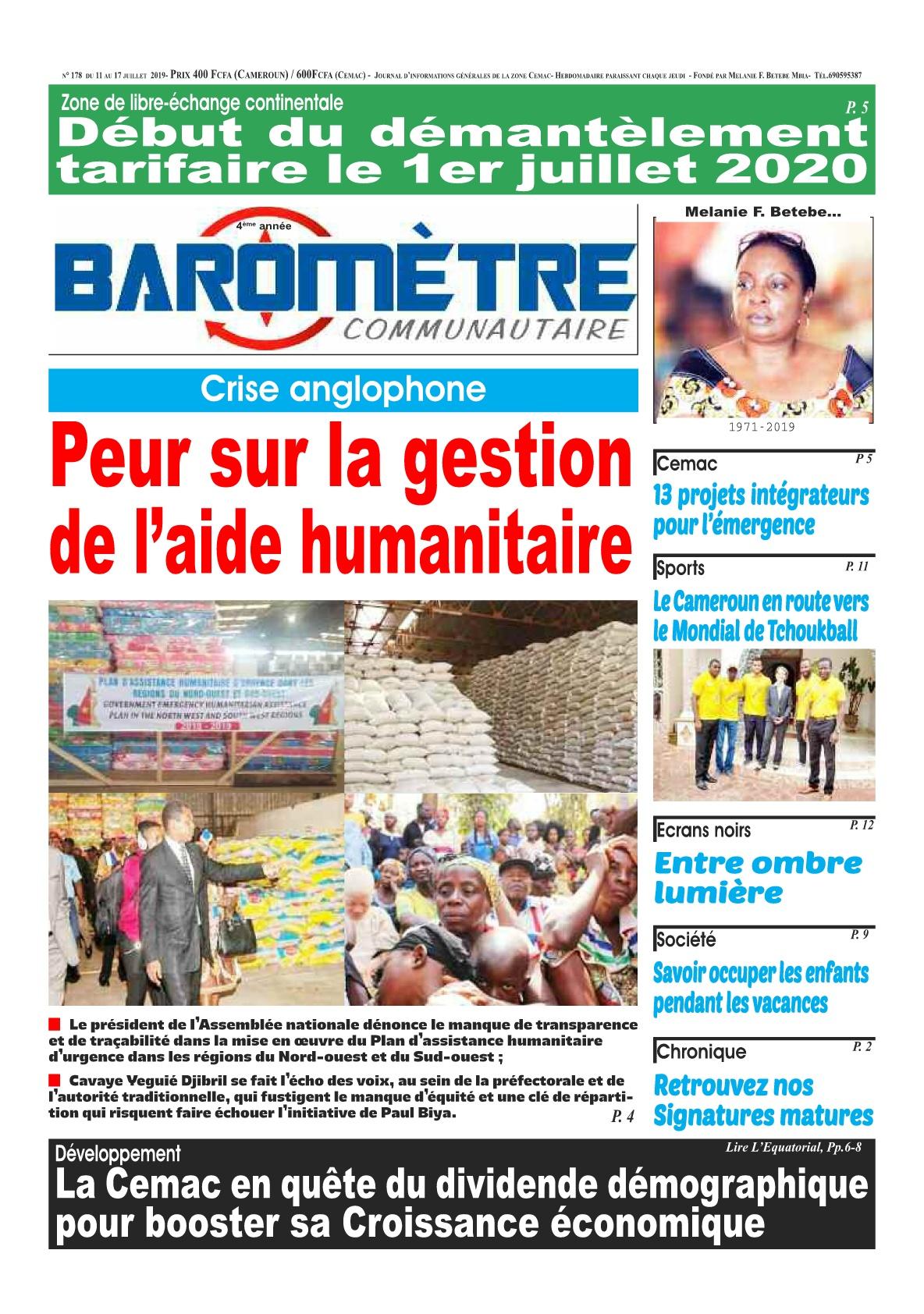 Baromètre - 11/07/2019