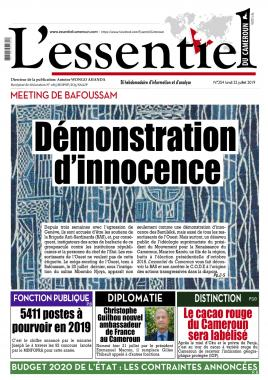 L'essentiel du Cameroun - 22/07/2019