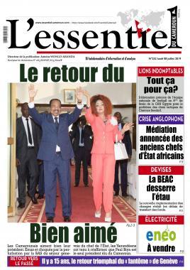 L'essentiel du Cameroun - 08/07/2019