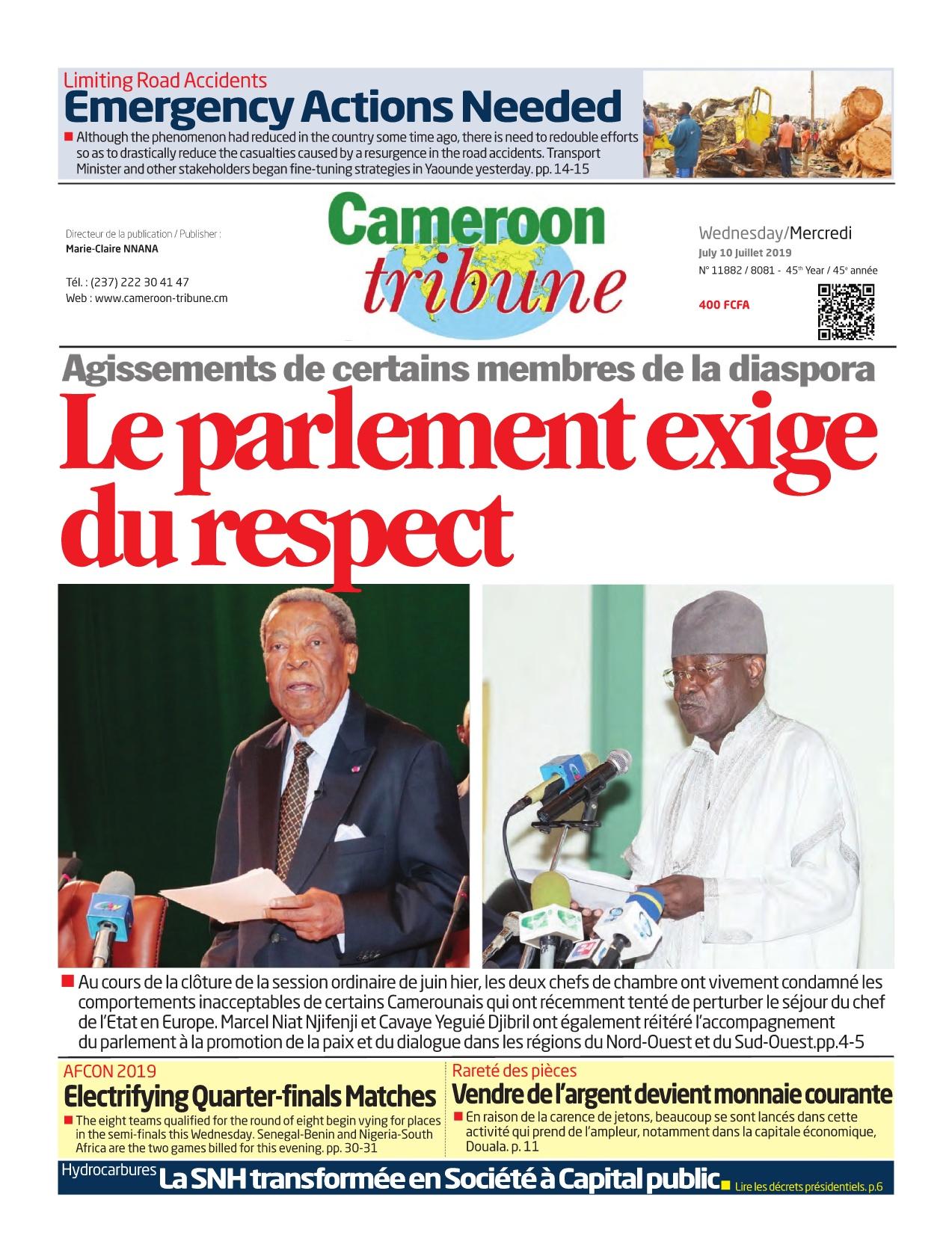Cameroon Tribune - 10/07/2019