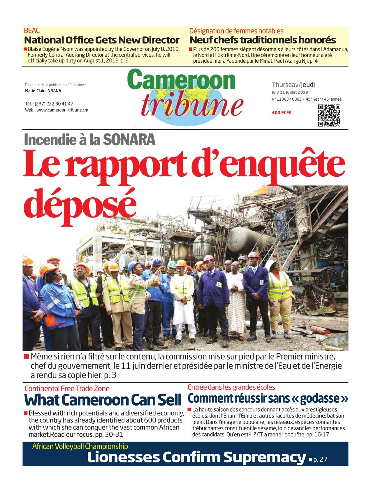 Cameroon Tribune - 11/07/2019