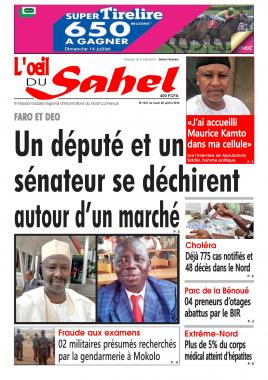 L'oeil du Sahel - 08/07/2019