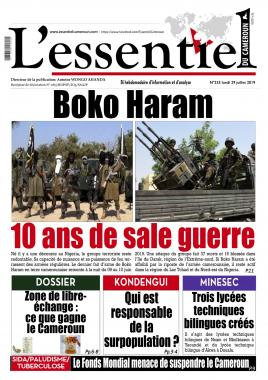 L'essentiel du Cameroun - 29/07/2019