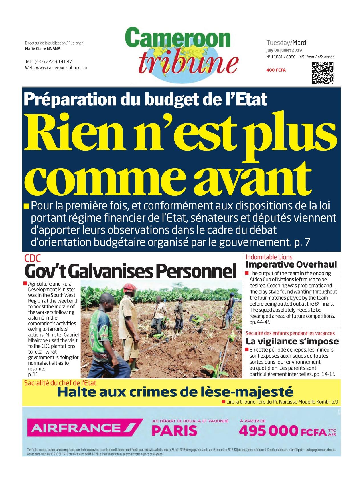 Cameroon Tribune - 09/07/2019