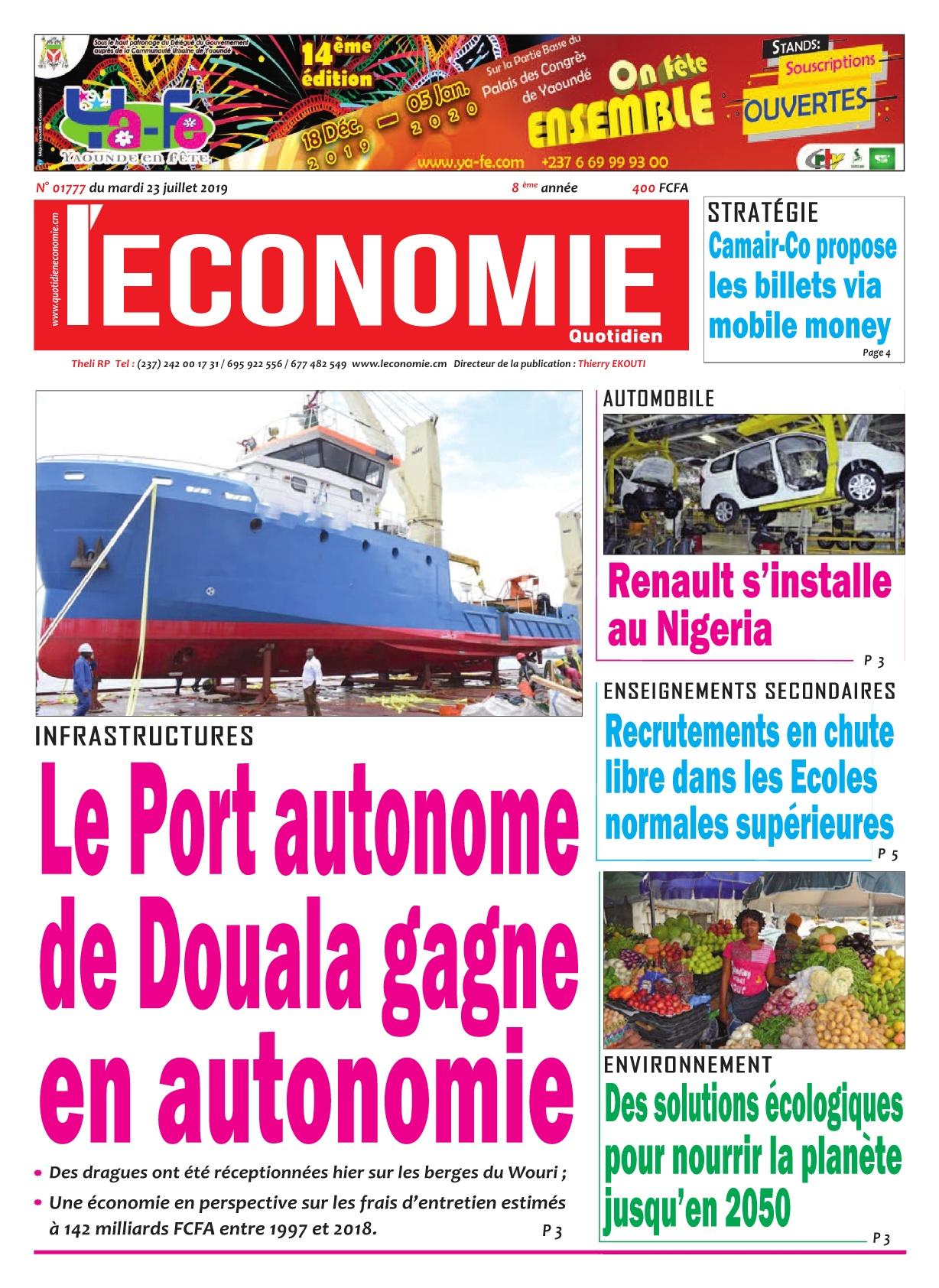Le Quotidien de l'Economie - 23/07/2019