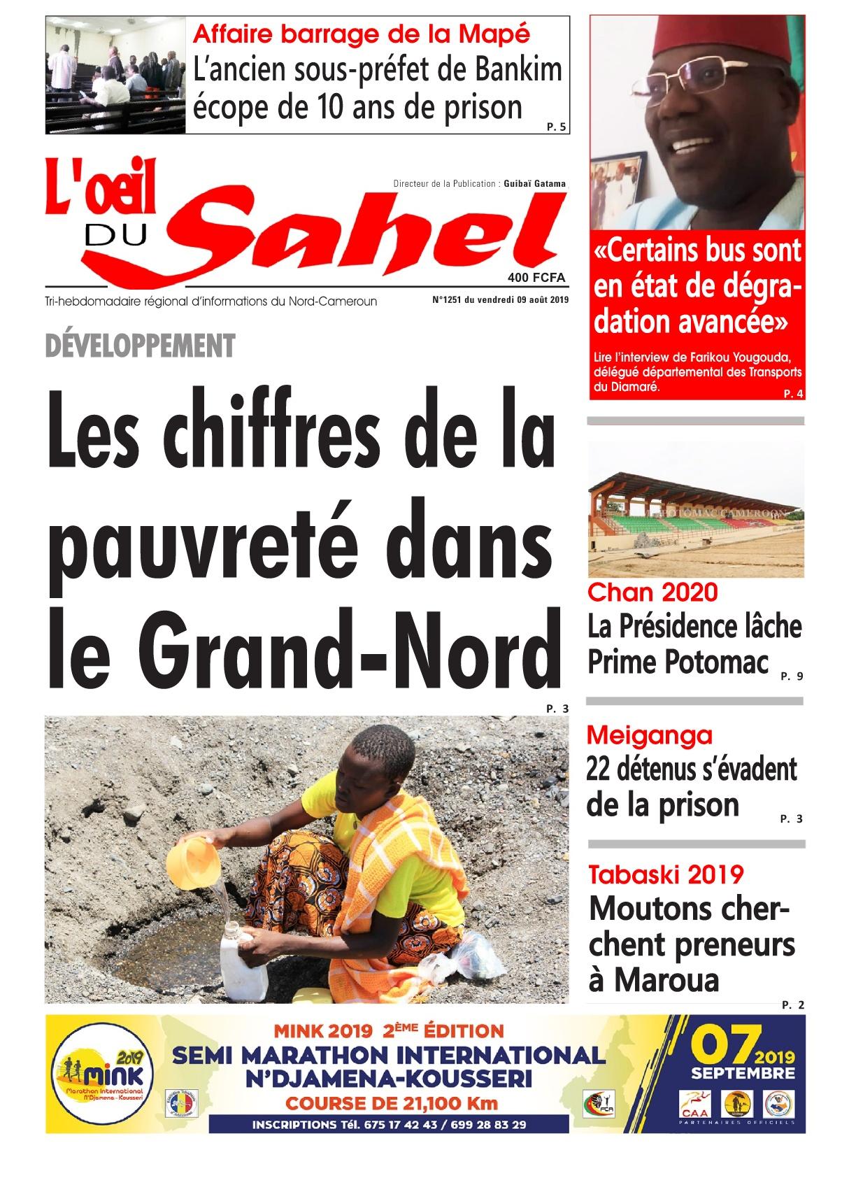 L'oeil du Sahel - 09/08/2019