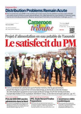 Cameroon Tribune - 08/08/2019