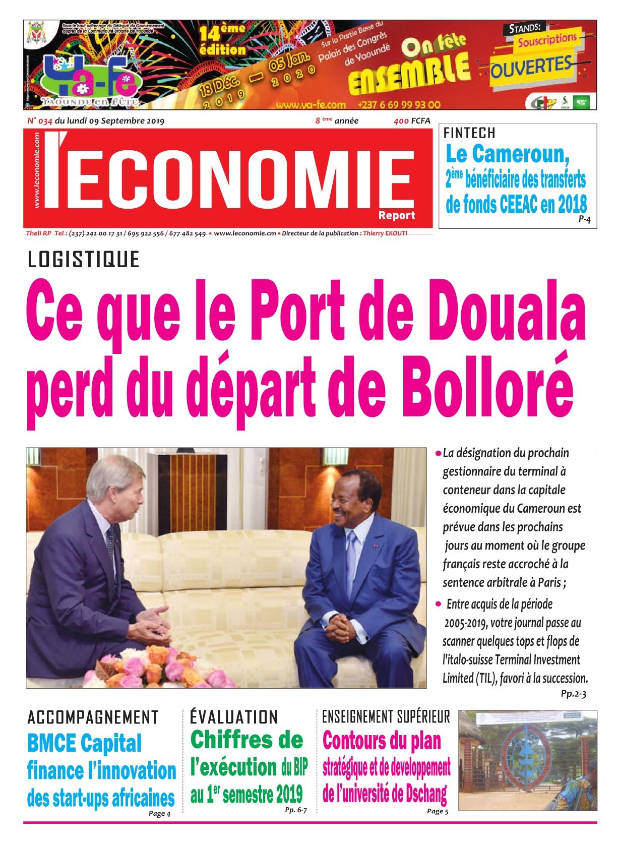 Le Quotidien de l'Economie - 09/09/2019