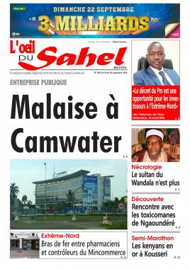 L'oeil du Sahel - 09/09/2019