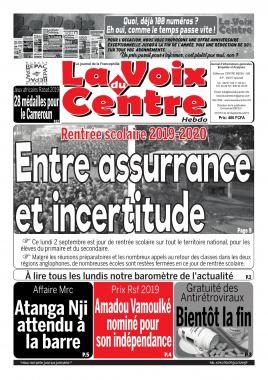 LA VOIX DU CENTRE - 02/09/2019
