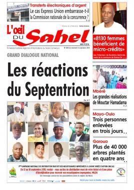 L'oeil du Sahel - 13/09/2019
