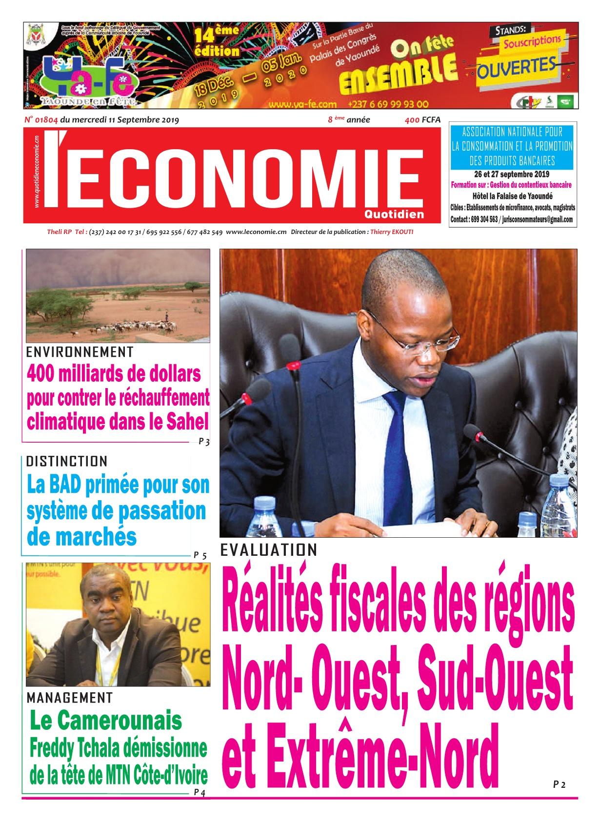 Le Quotidien de l'Economie - 11/09/2019